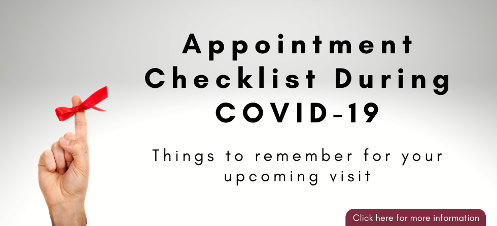 Appointment Checklist During COVID-19